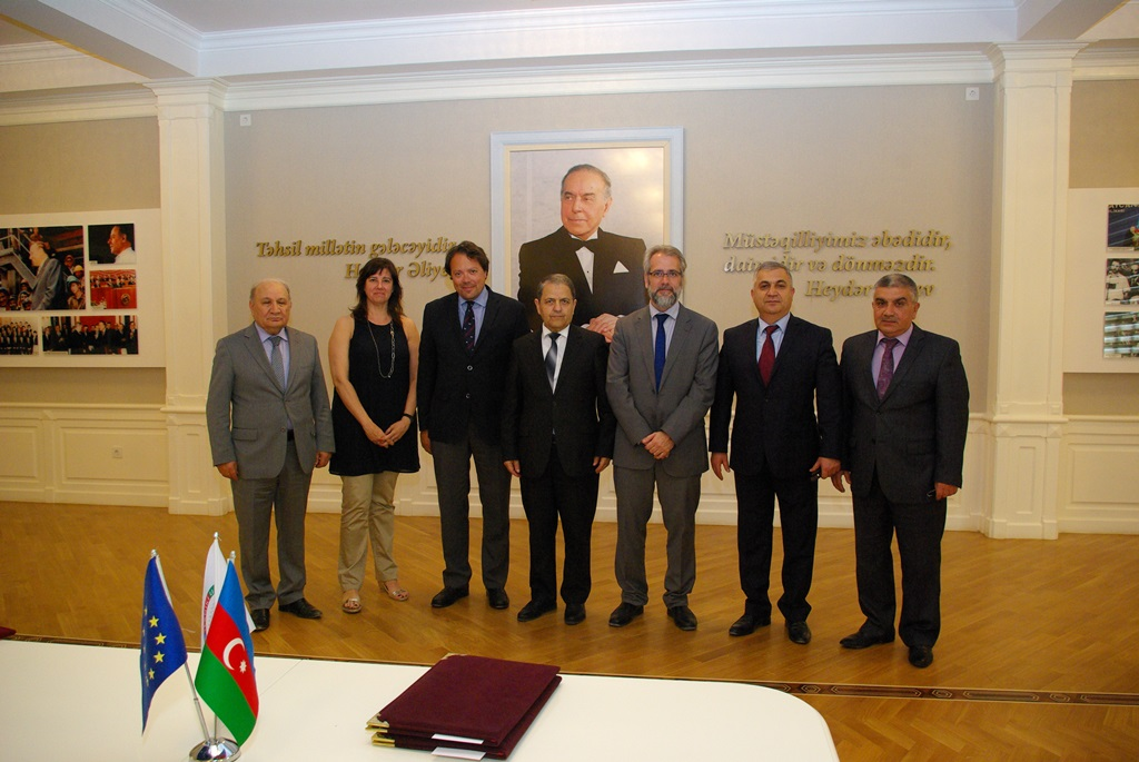 Signing ceremony of the double-diploma and Erasmus+ students mobility agreement between Azerbaijan Technical University and University of Girona 11/05/2017